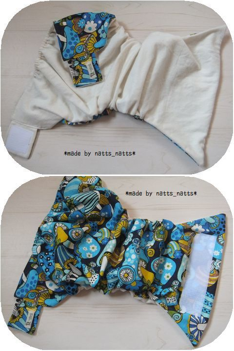 ハンドメイドの布おむつカバー♪ハッピーキノコ 子供用 110~130サイズ_画像2