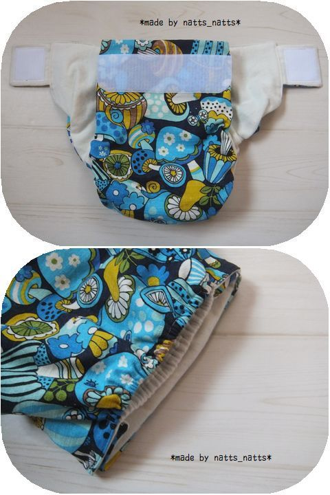 ハンドメイドの布おむつカバー♪ハッピーキノコ 子供用 110~130サイズ_画像3