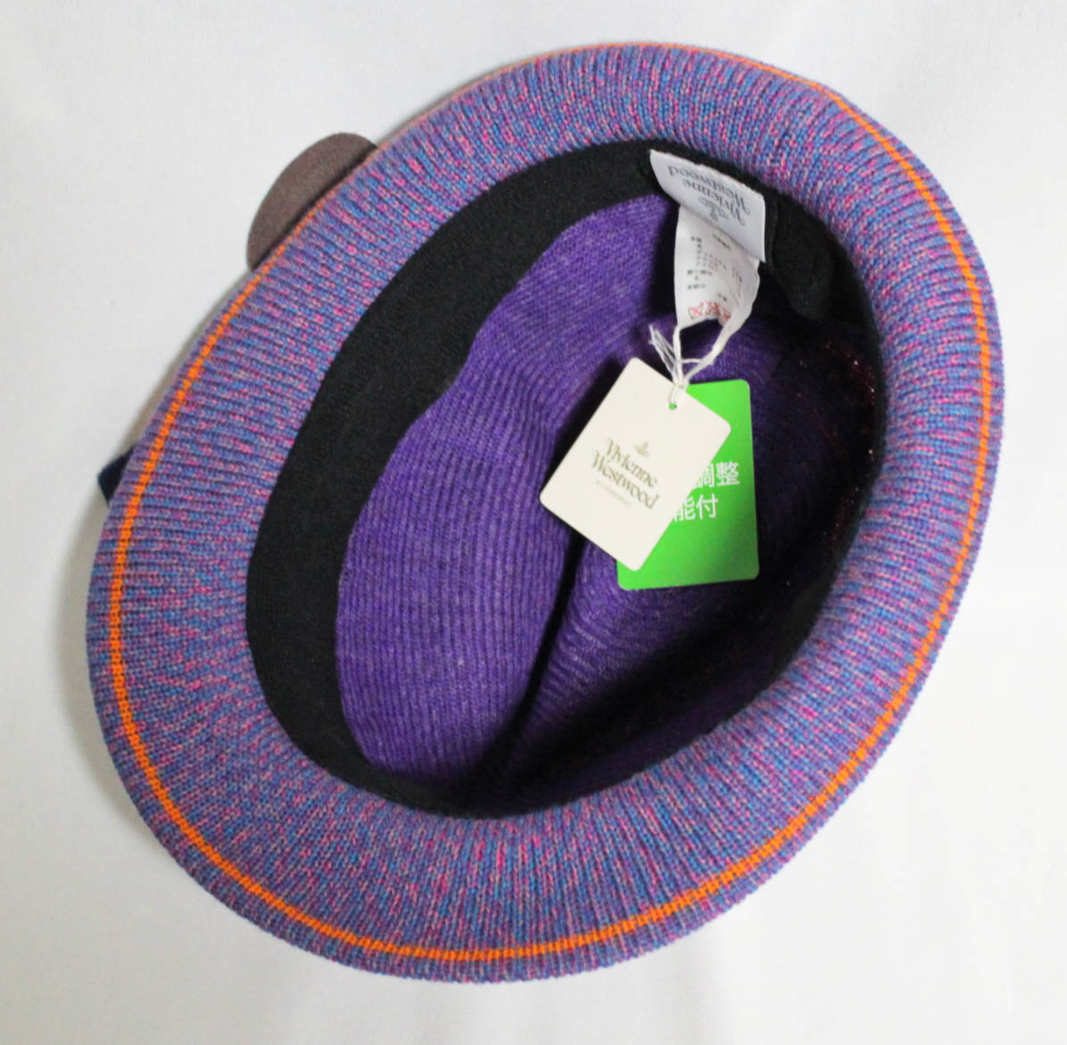 《Vivienne Westwood ヴィヴィアンウエストウッド》 新品 オシャレウールハット 中折れハット S~M(55~58cm サイズ調整可能)A1803