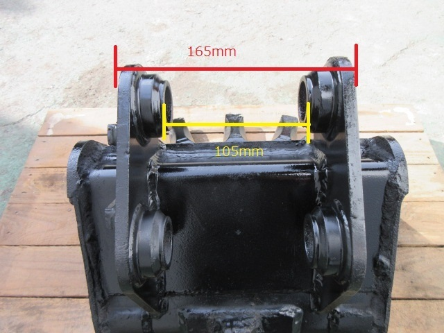FS8 重機 用 狭幅バケット ピン径30mm 幅280mm ユンボ 建設機械 バケット_画像9