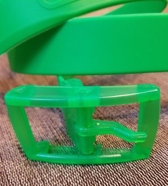 新品 カラフルラバーベルト グリンカラー メンズ&レディース 自由でおしゃれにバックル付け替え可能タイプ_画像3