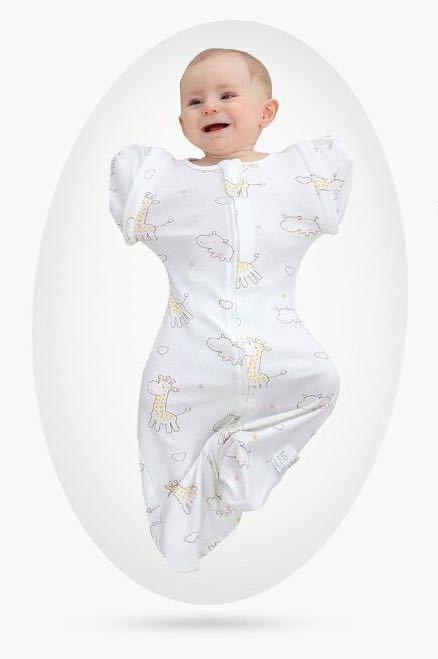 【新品 おまけ付き】Mサイズ 妊婦 赤ちゃん夜泣き対策に 奇跡のおくるみ キリン スワドルアップではありません ベビー 安眠 baby_画像2