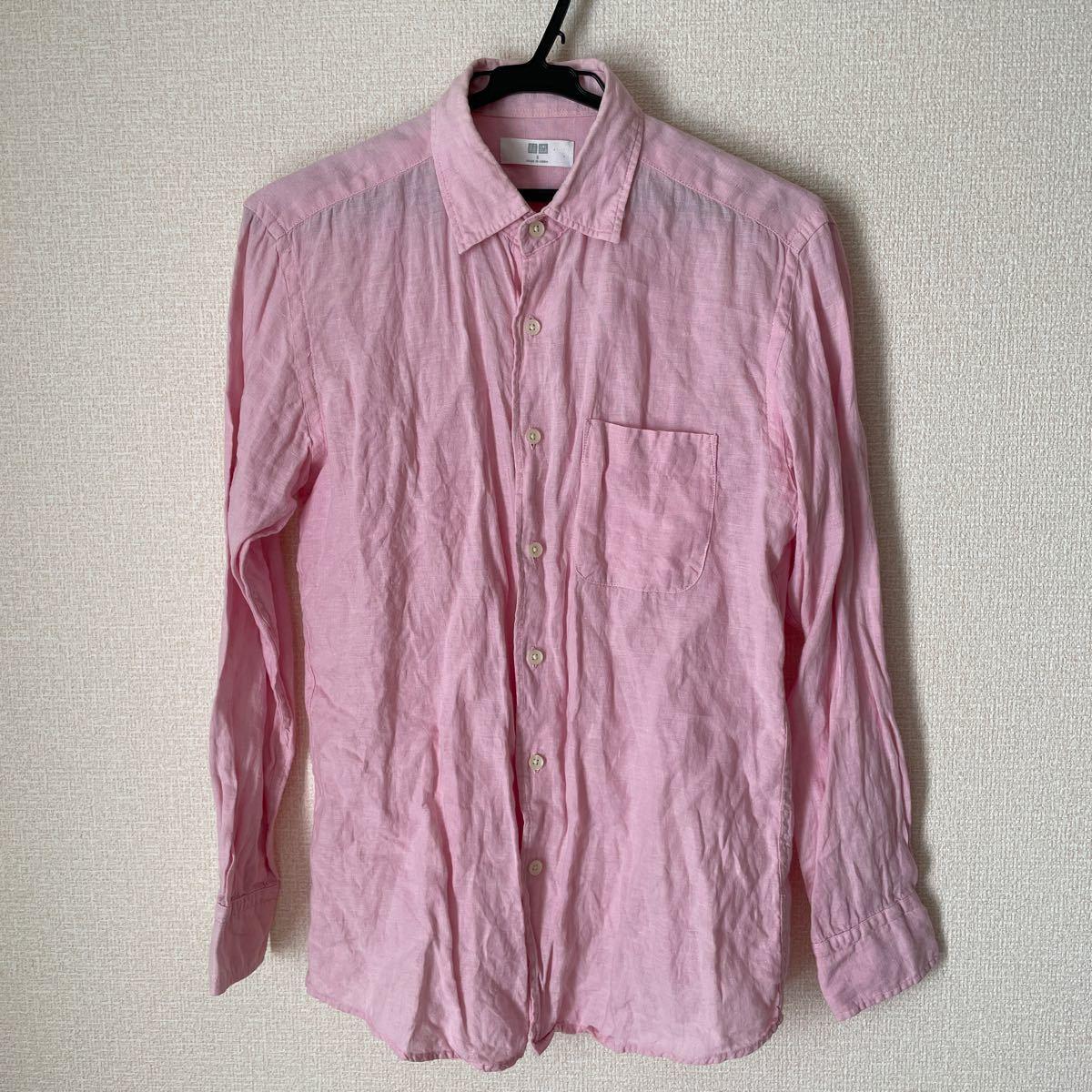 長袖シャツ 長袖 ボタンダウンシャツ UNIQLO ユニクロ S ピンク