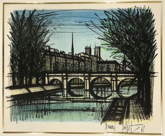 【特価】 ≪  ベルナール  ビュッフェ  ≫  オリジナル リトグラフ【石版画】  LE PONT NEUF  1968年 BERNARD  BUFFET