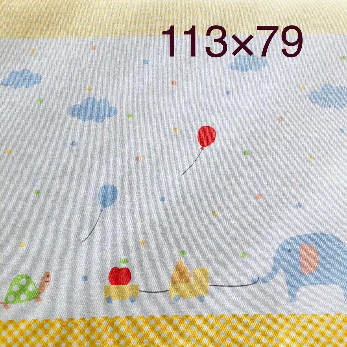 生地 キッズ パネル カメ 風船 ゾウ ハンドメイド オックス 入園入学 黄色