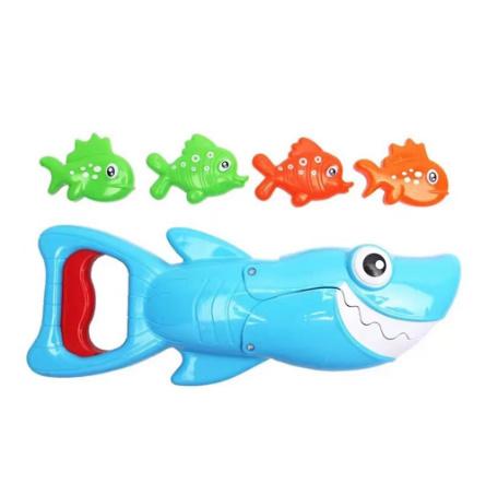 【P487】サメ釣りお風呂おもちゃビッグフィッシュキャッチ小魚子供お風呂玩具浴室水泳プール_画像4