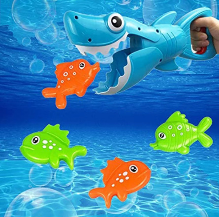 【P487】サメ釣りお風呂おもちゃビッグフィッシュキャッチ小魚子供お風呂玩具浴室水泳プール_画像1