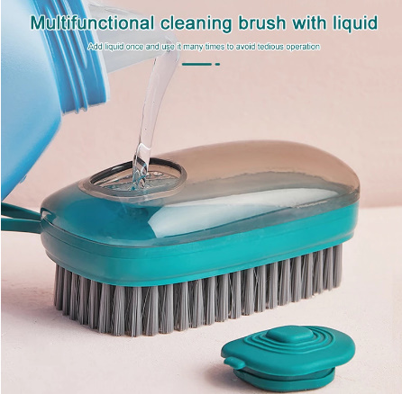 【P415】1個 洗剤が入れられるブラシキッチンシンク便利掃除道具クリーニングブラシスポンジディスペンサー食器洗い靴クリーニング_画像1