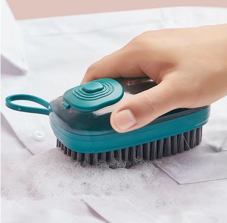 【P415】1個 洗剤が入れられるブラシキッチンシンク便利掃除道具クリーニングブラシスポンジディスペンサー食器洗い靴クリーニング_画像3