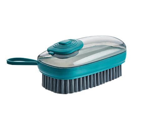 【P415】1個 洗剤が入れられるブラシキッチンシンク便利掃除道具クリーニングブラシスポンジディスペンサー食器洗い靴クリーニング_画像7