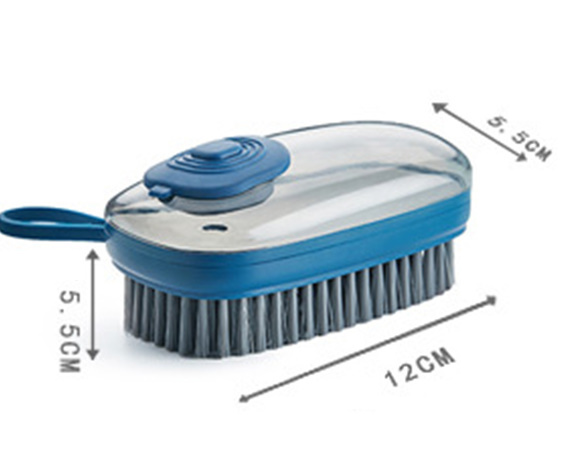 【P415】1個 洗剤が入れられるブラシキッチンシンク便利掃除道具クリーニングブラシスポンジディスペンサー食器洗い靴クリーニング_画像5