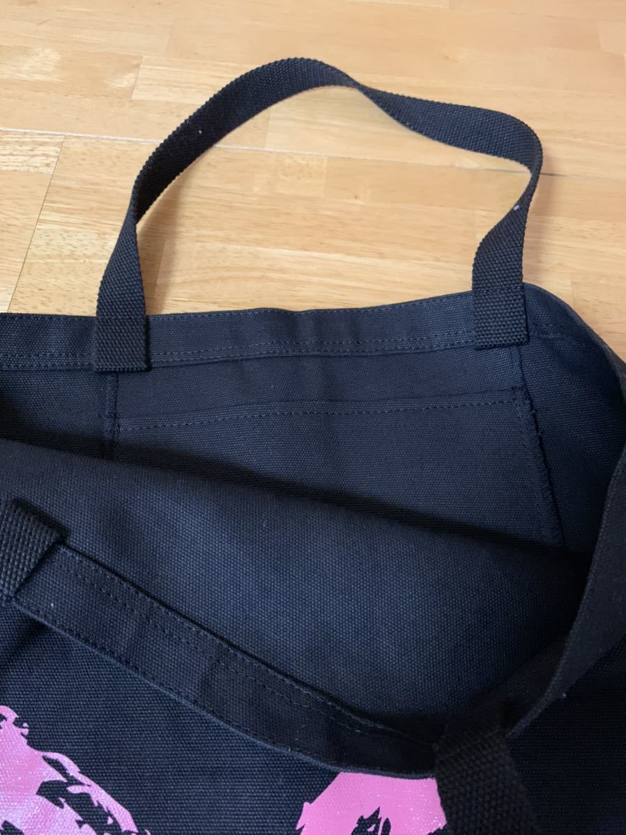 バッグ ブランド不明トートバッグ ショッピングバッグ ピンクハートマーク かわいい 使用回数1回 中古美品 送無