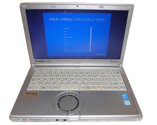Windows10 Pro 64bit(MAR) Panasonic Let'sNote CF-NX3 Core i5-4300U 1.9GHz 4GB 320GB 光学ドライブなし Webカメラ HDMI WPS Office_画像1