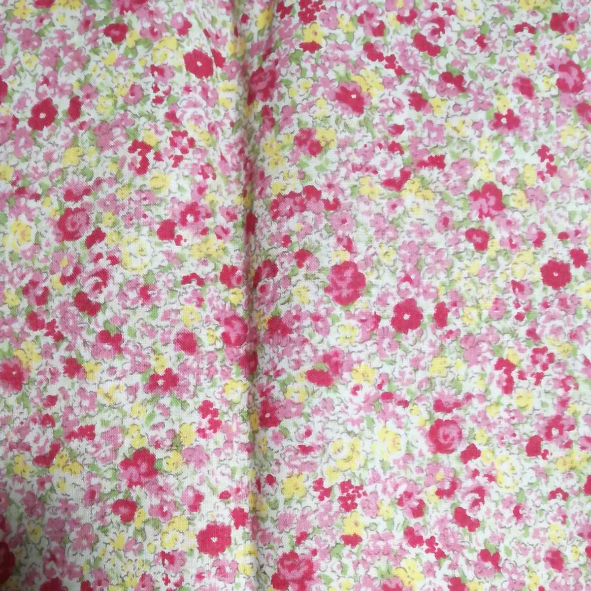 はぎれ 薄地の小花柄 ピンク系