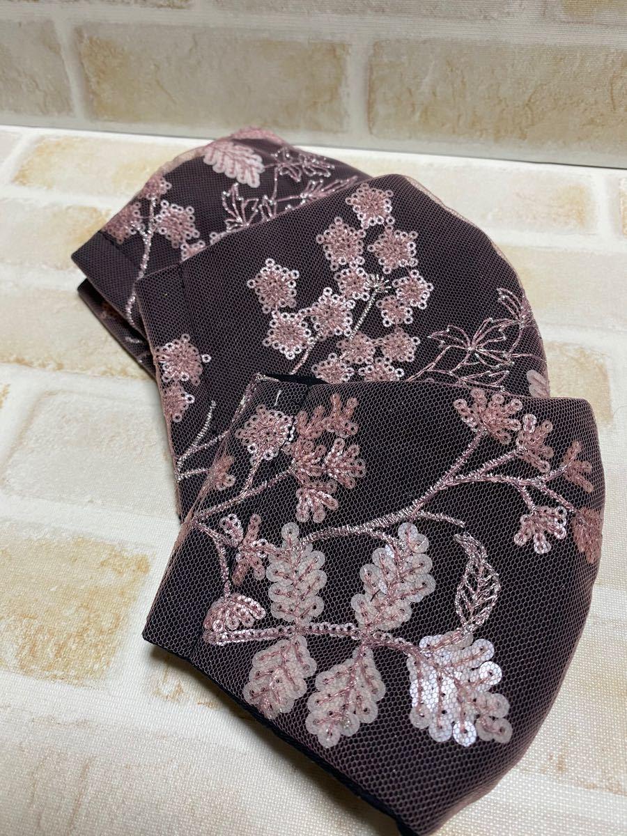 立体インナースパンコール刺繍チュールレース