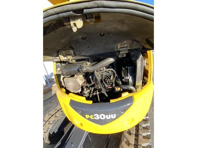コマツ PC30UU-3 3tクラス 小旋回 倍速 ロングアーム ミニ油圧ショベル ユンボ バックホー F24@車選びドットコム_画像の続きは「車両情報」からチェック