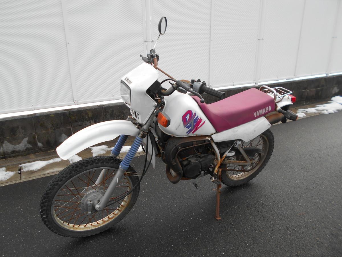 「絶版旧車メ-カ-廃盤1992ヤマハDT50LC17Wレストアベ-ス趣味のバイク マニア館 ギフトップ トレ-ディング」の画像1
