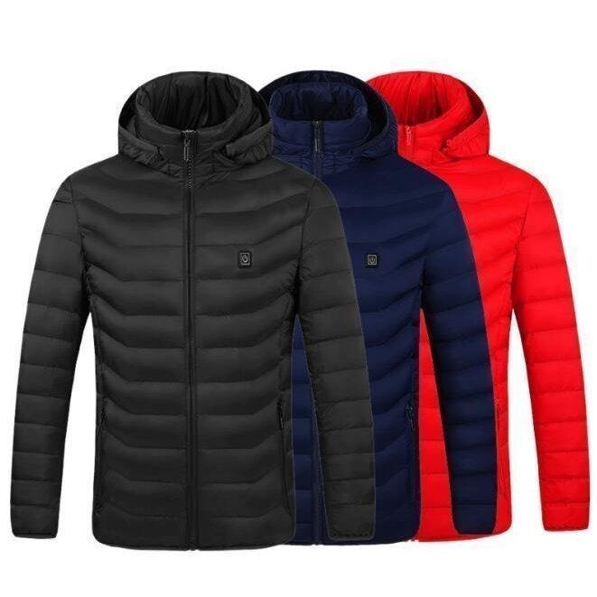 電熱ウェア 電熱ジャケット 8つヒーター 長袖 防寒着 USB加熱服 3段温度調整 秋冬用 男女兼用 水洗い可能 3色とサイズ選択S-4XL_画像8