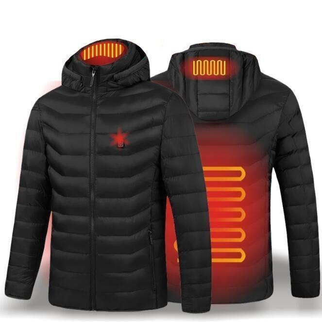 電熱ウェア 電熱ジャケット 8つヒーター 長袖 防寒着 USB加熱服 3段温度調整 秋冬用 男女兼用 水洗い可能 3色とサイズ選択S-4XL_画像2