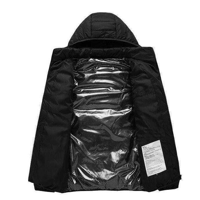 電熱ウェア 電熱ジャケット 8つヒーター 長袖 防寒着 USB加熱服 3段温度調整 秋冬用 男女兼用 水洗い可能 3色とサイズ選択S-4XL_画像10