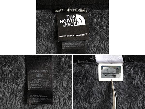 US企画 日本未発売モデル 人気 黒 ■ ノースフェイス 裏 毛長 フリース フルシップ フリース ジャケット ( 男性 メンズ M ) The North Face_画像4