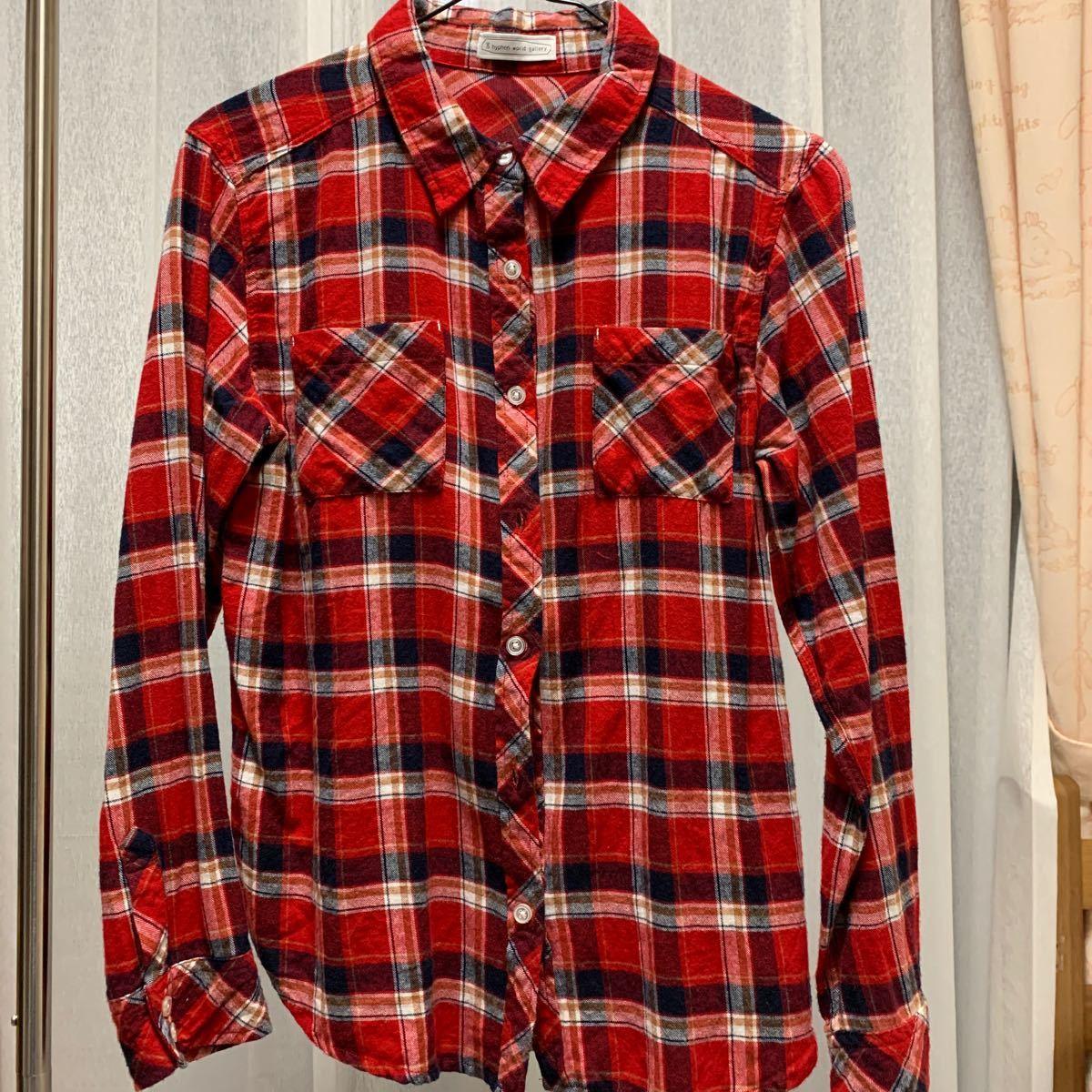 ネルシャツ チェックシャツ チェック柄 長袖シャツ