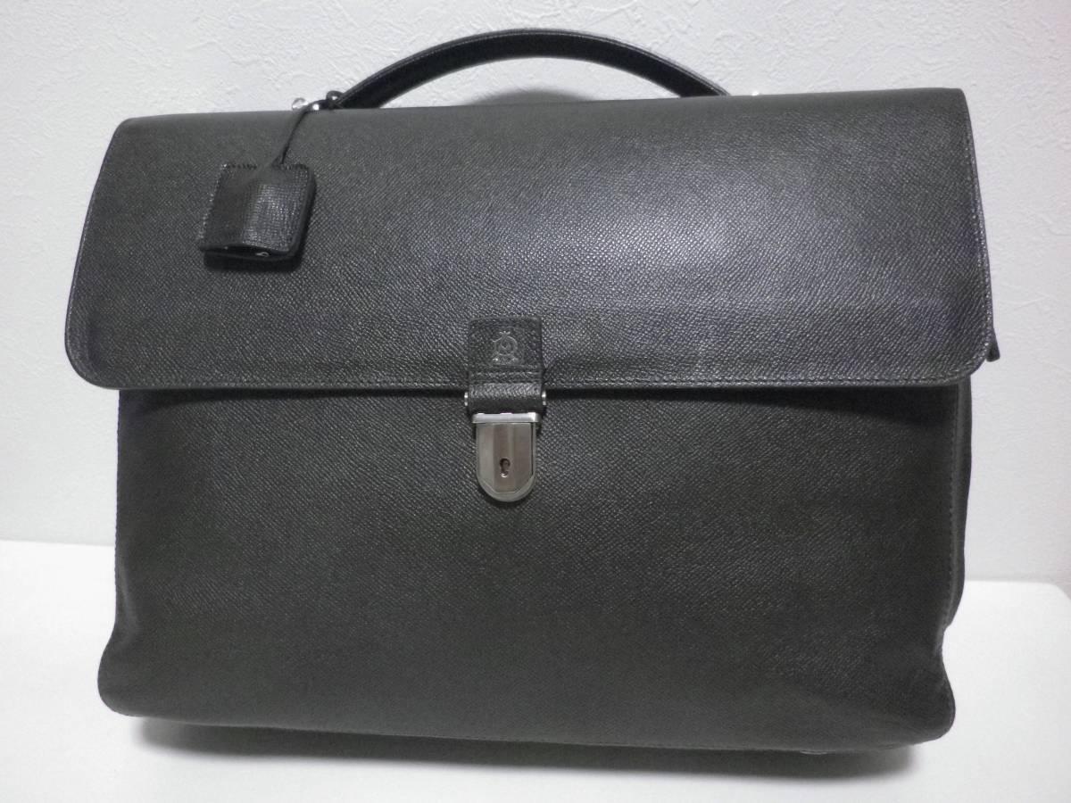 ◆dunhill/ダンヒル◆上質 BOURDON キーロック式 レザー ブリーフケース ビジネスバッグ/21.4万_画像1