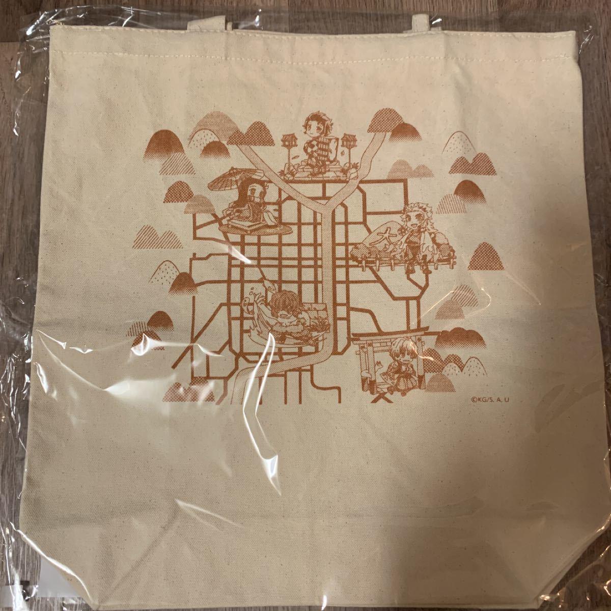 鬼滅の刃 京ノ御仕事弐 トートバッグ(京の都マップトートバッグ)
