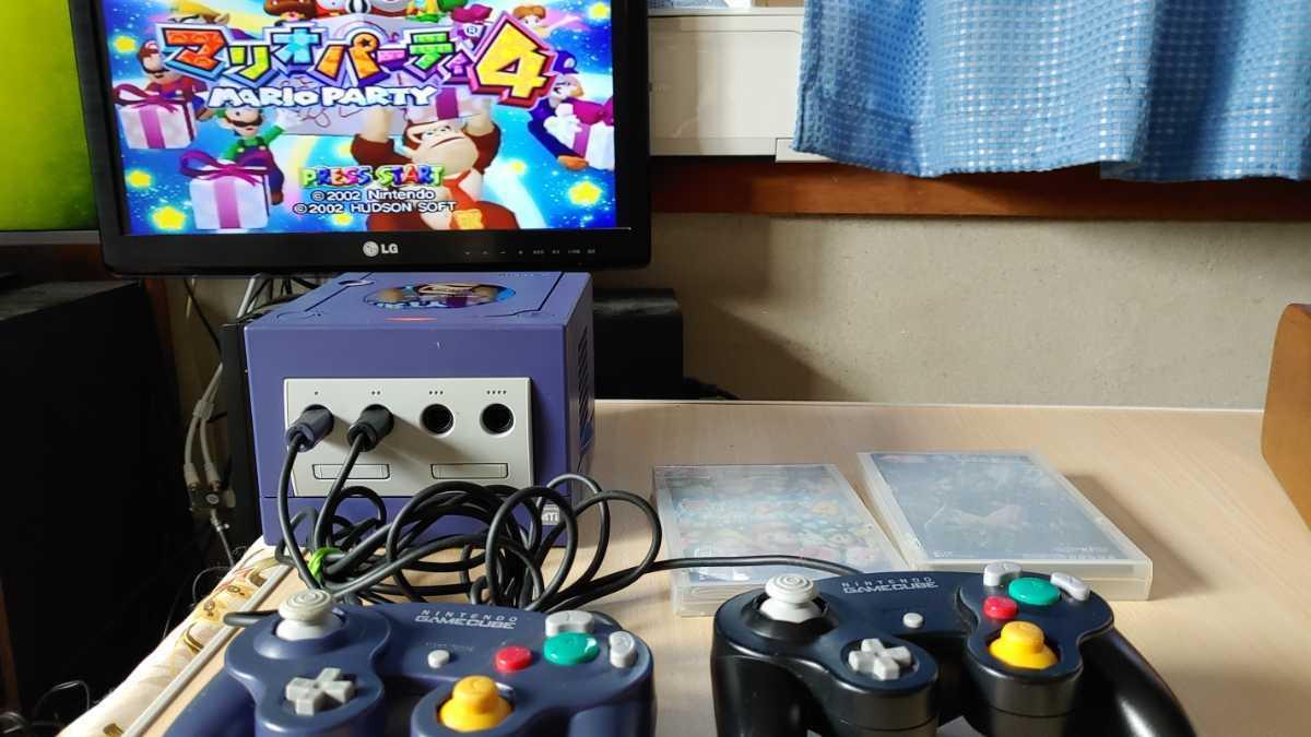 任天堂 nintendo ニンテンドー GAMECUBE ゲームキューブ 本体 ゲームソフト 2本付 ゲーム おもちゃ ホビー 趣味 動作確認済み 中古品_画像2