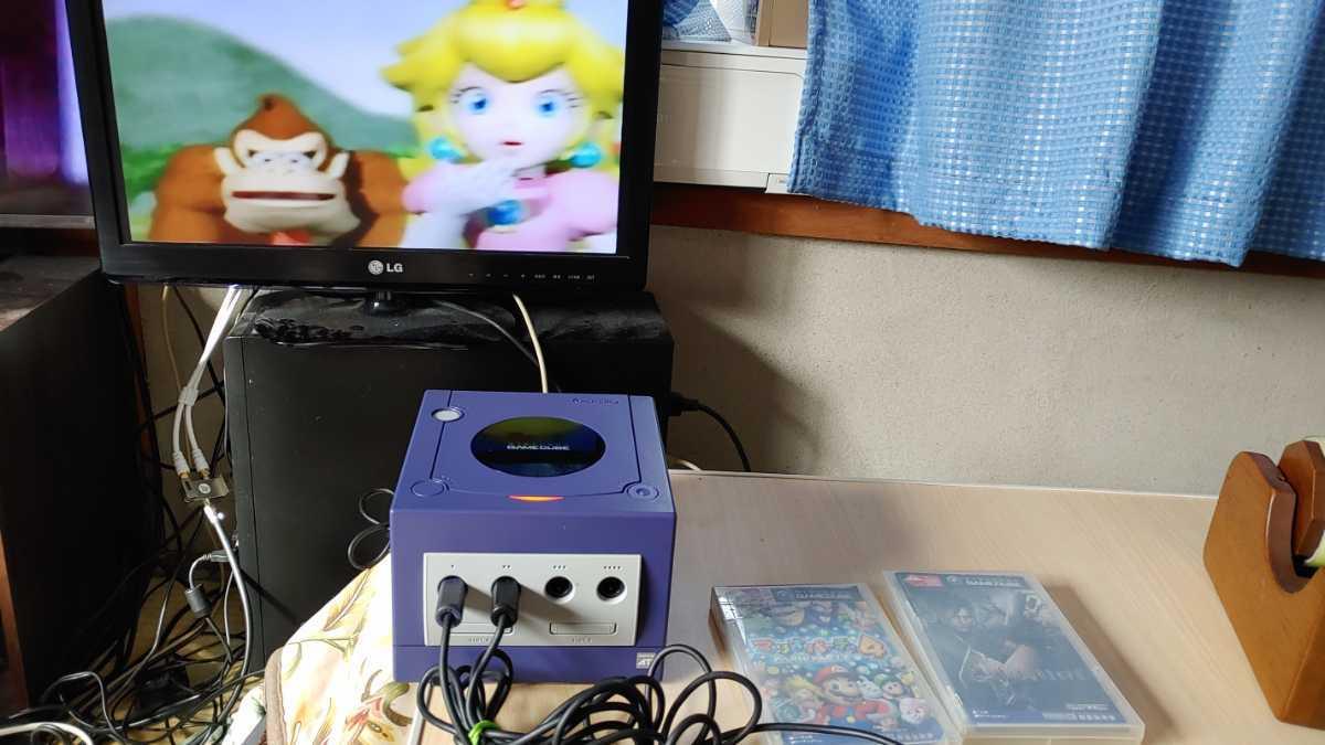 任天堂 nintendo ニンテンドー GAMECUBE ゲームキューブ 本体 ゲームソフト 2本付 ゲーム おもちゃ ホビー 趣味 動作確認済み 中古品_画像9