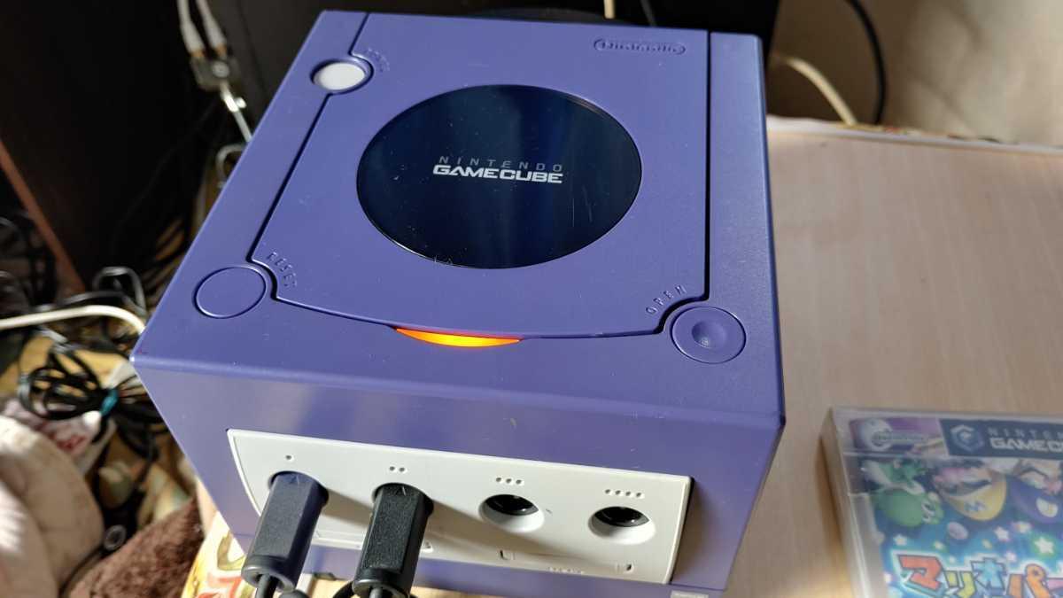 任天堂 nintendo ニンテンドー GAMECUBE ゲームキューブ 本体 ゲームソフト 2本付 ゲーム おもちゃ ホビー 趣味 動作確認済み 中古品_画像5