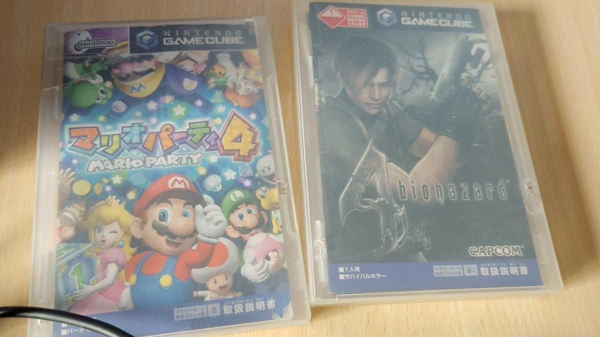 任天堂 nintendo ニンテンドー GAMECUBE ゲームキューブ 本体 ゲームソフト 2本付 ゲーム おもちゃ ホビー 趣味 動作確認済み 中古品_画像4