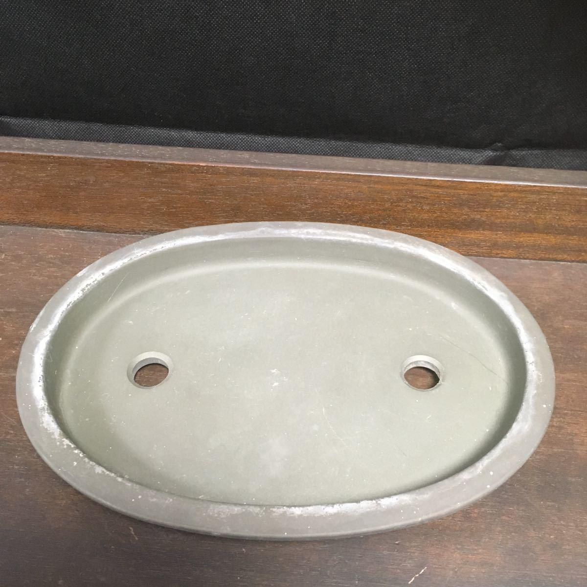 盆栽鉢 鉢 在銘 陶器 朱泥 植木鉢 陶春 (971)_画像1