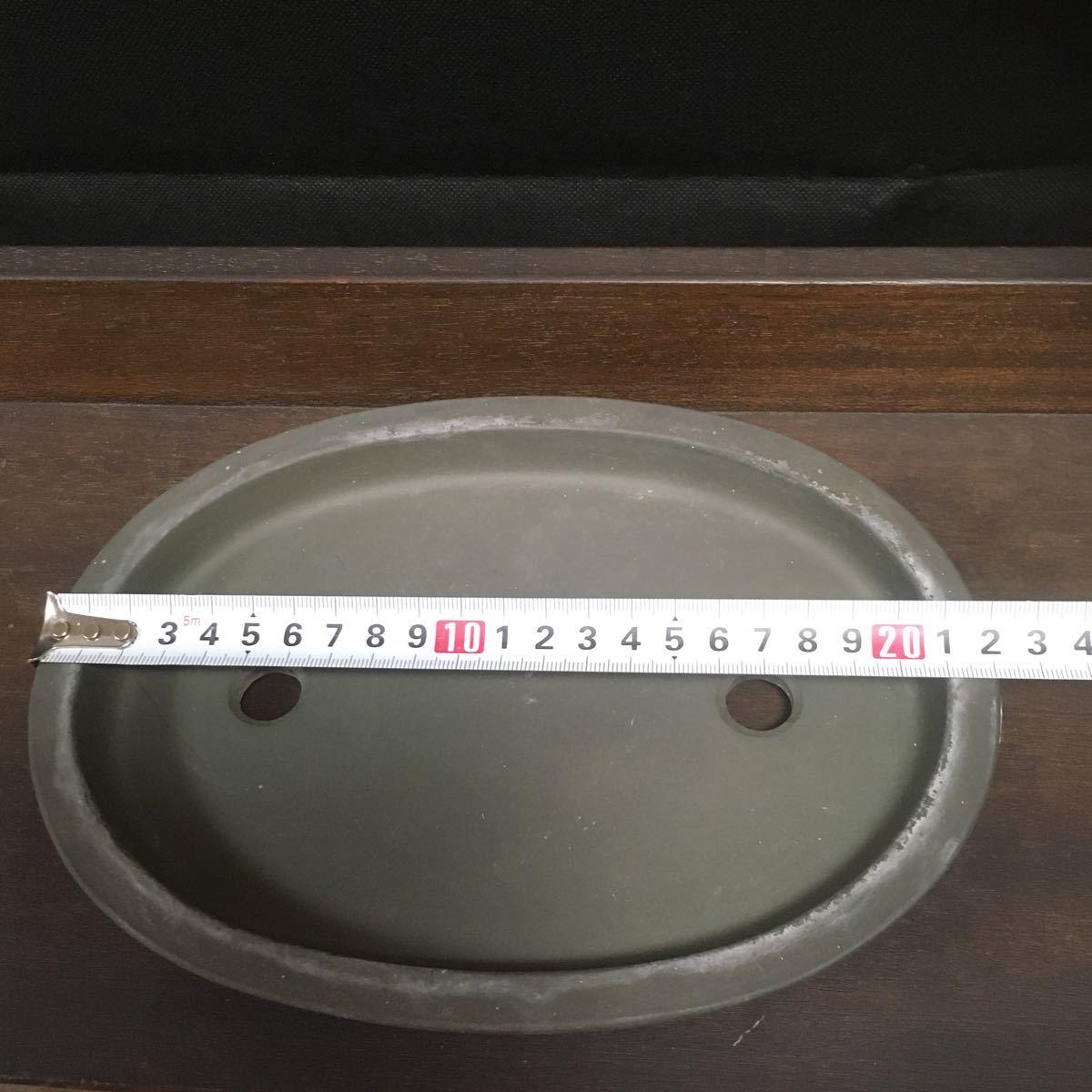 盆栽鉢 鉢 在銘 陶器 朱泥 植木鉢 陶春 (971)_画像5