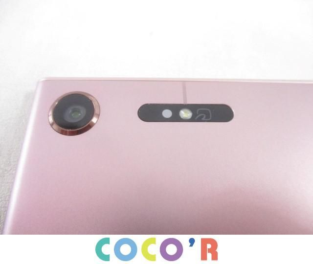 【同梱可】良品 NTTドコモ スマートフォン本体 SONY SO-01K Xperia XZ1 ピンク 判定○ 白ロム_画像4