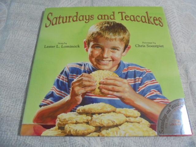 洋書絵本 Saturdays and Teacakes  土曜日とティーケーキ おばあちゃんとの思いで CD付き とても美しい挿絵 レトロ