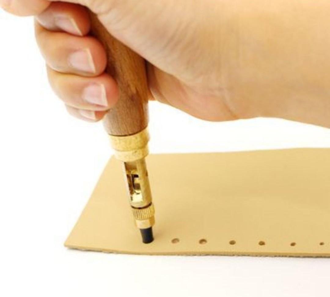 スクリューポンチ レザーパンチ 穴あけ工具 6サイズセット レザークラフト工具 菱目パンチ