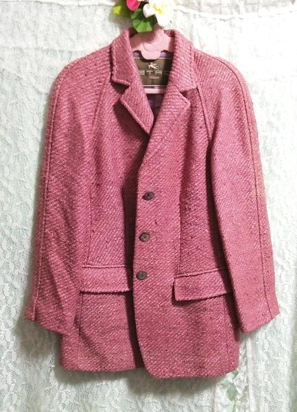 Etro エトロ Milano イタリア製 絹シルク100% ジャケットコート外套 Made in Italy 100% silk silk jacket_画像1