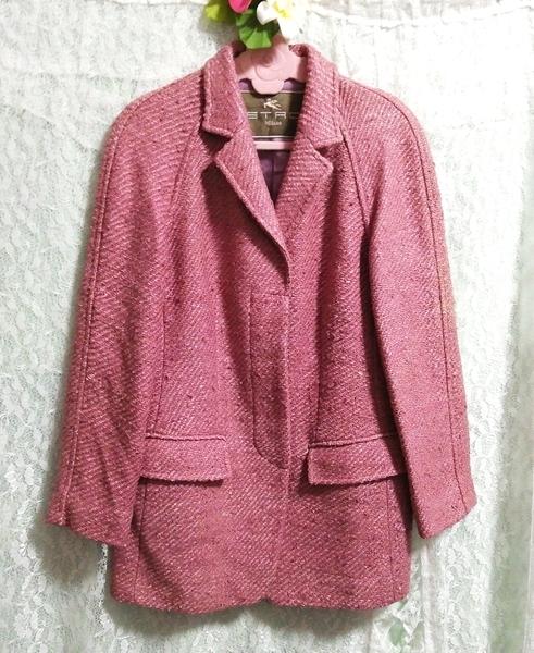 Etro エトロ Milano イタリア製 絹シルク100% ジャケットコート外套 Made in Italy 100% silk silk jacket_画像2