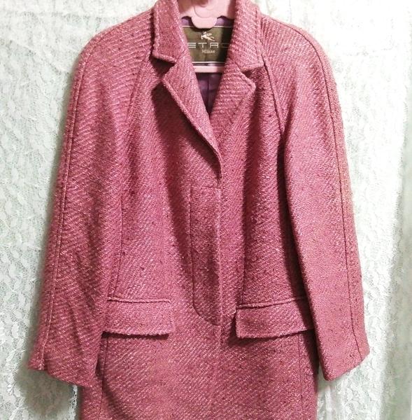 Etro エトロ Milano イタリア製 絹シルク100% ジャケットコート外套 Made in Italy 100% silk silk jacket_画像4
