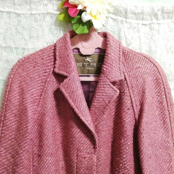 Etro エトロ Milano イタリア製 絹シルク100% ジャケットコート外套 Made in Italy 100% silk silk jacket_画像5