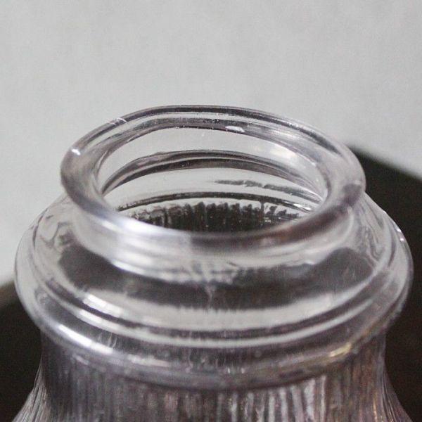 USAアメリカヴィンテージパープルガラスシェードペンダントライト|アンティークライト吊下げ照明電笠ローズ薔薇シェードホルダー&コード付_製造時に出来た口径の歪みあり