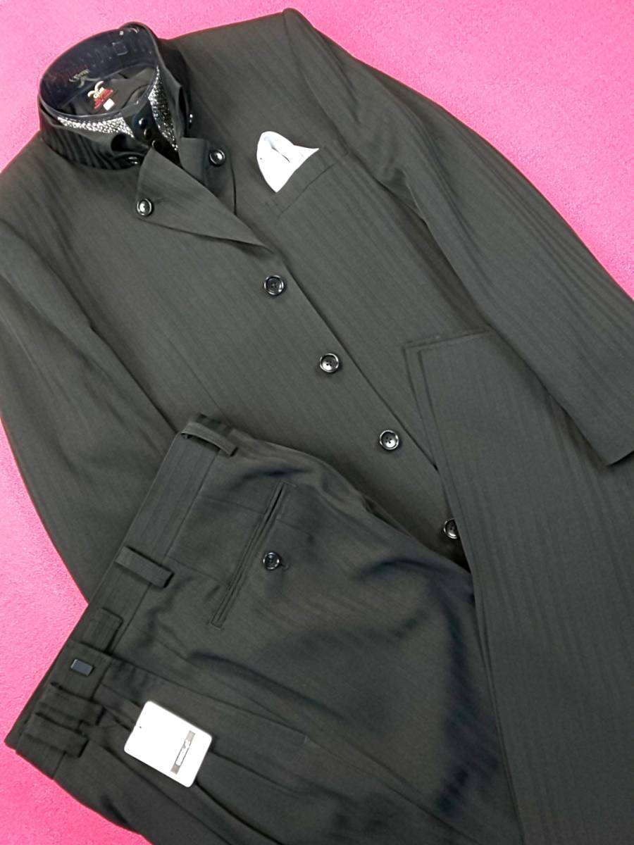 新品 SALE!! 特別価格!! 送料無料 l'garage マオカラースーツ スリータック Sサイズ ゆったり パーティー 結婚式 ステージ衣装 34112-2_画像1