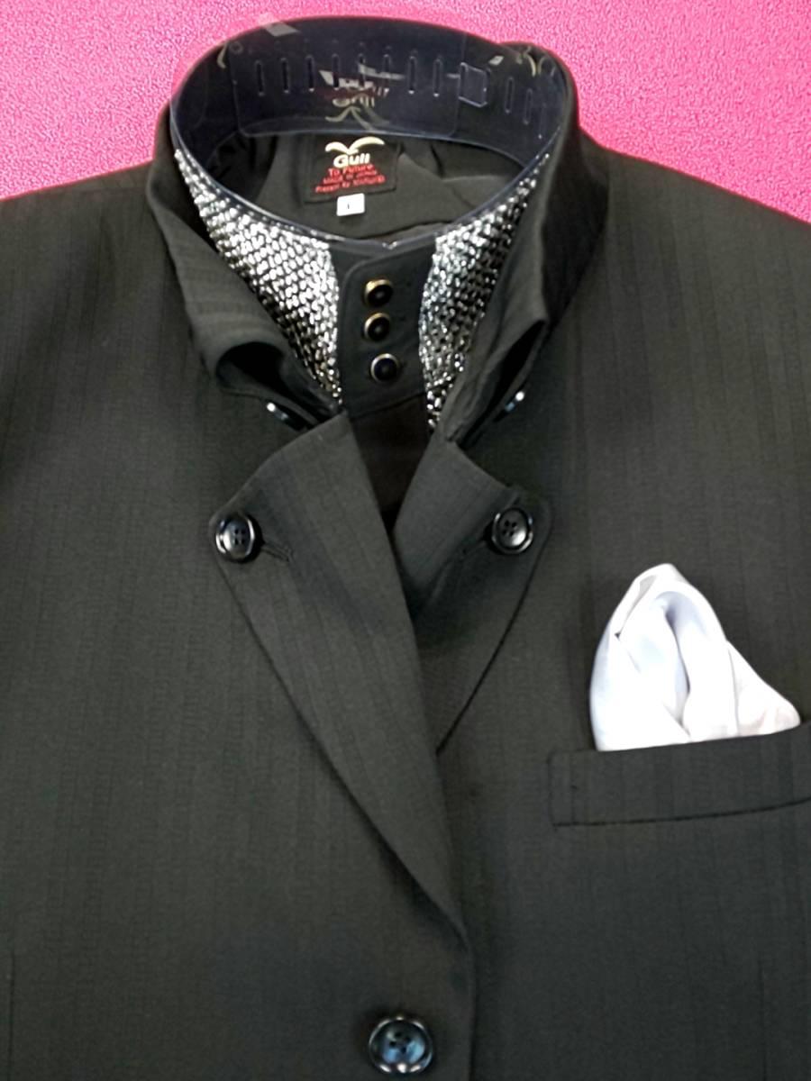 新品 SALE!! 特別価格!! 送料無料 l'garage マオカラースーツ スリータック Sサイズ ゆったり パーティー 結婚式 ステージ衣装 34112-2_画像2