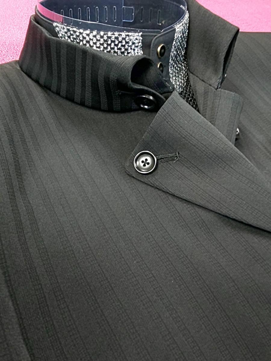 新品 SALE!! 特別価格!! 送料無料 l'garage マオカラースーツ スリータック Sサイズ ゆったり パーティー 結婚式 ステージ衣装 34112-2_画像3
