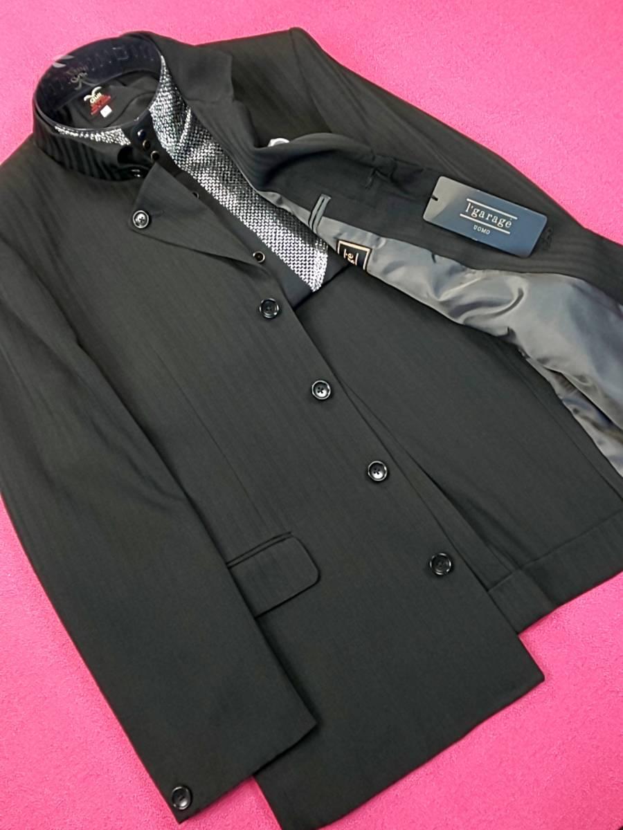 新品 SALE!! 特別価格!! 送料無料 l'garage マオカラースーツ スリータック Sサイズ ゆったり パーティー 結婚式 ステージ衣装 34112-2_画像5