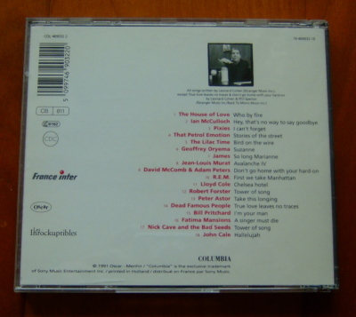 ★CD★I'M YOUR FAN The Song Of Leonard Cohen・レナード・コーエン・輸入盤・中古★