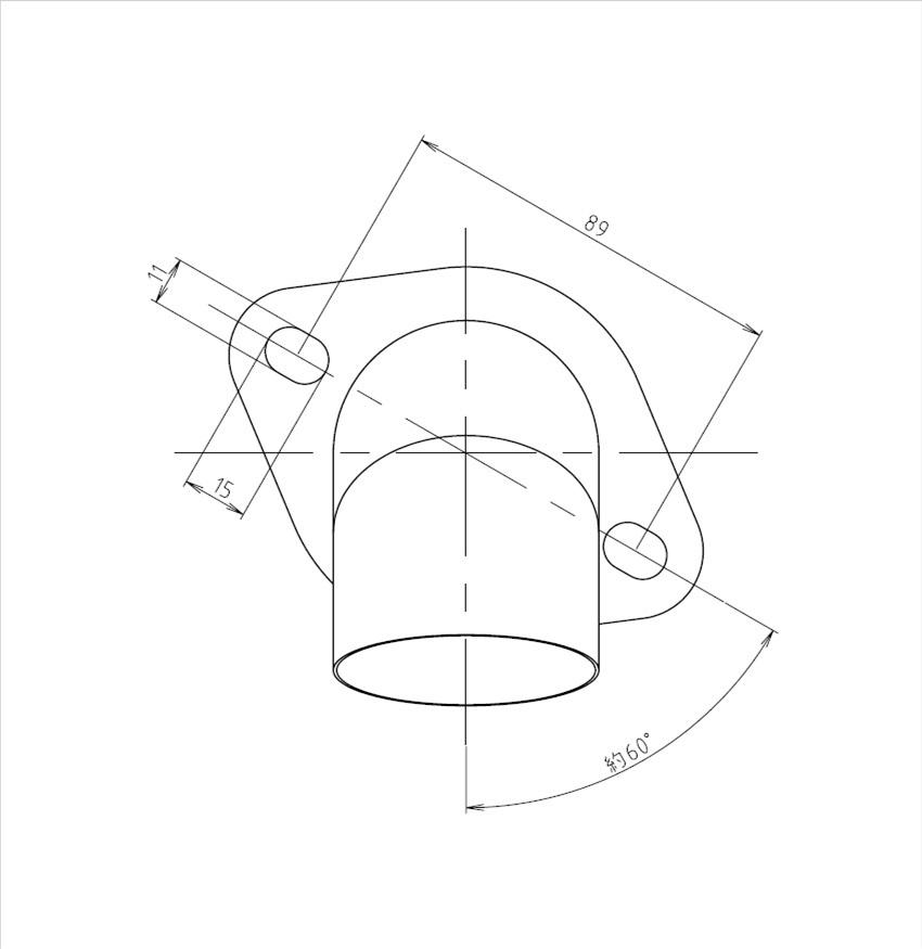 新品ドルフィンテールΦ60.5フランジ付エビ管(シビック インテグラ フィット ロードスタ RX8 86 BRZ スイフト ノート マーチ等)F606001_画像8