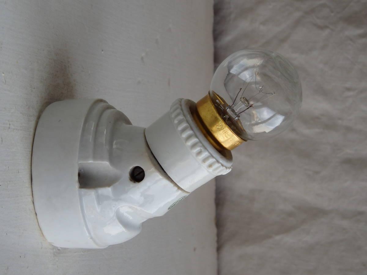 フランスアンティーク 陶器 ライト 壁付け ウォール インダストリアル アトリエ 工業系 ランプ 電気 照明 蚤の市 ブロカント_画像3