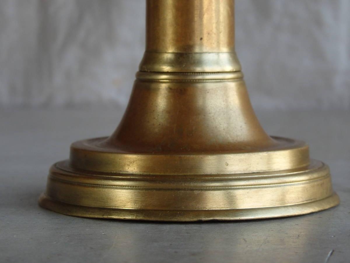 フランスアンティーク キャンドルスタンド ブロンズ 青銅 ゴールド 蝋燭立て 燭台 ブロカント 蚤の市 上下可動 インテリア _画像9
